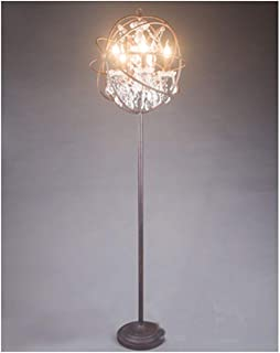 Noble.Store Floor Lamp Retro Industrial Style Wrought Iron Earth Crystal Coffee Room Study Living Room Fashion Creative Floor Lamp -36 Floor lamp