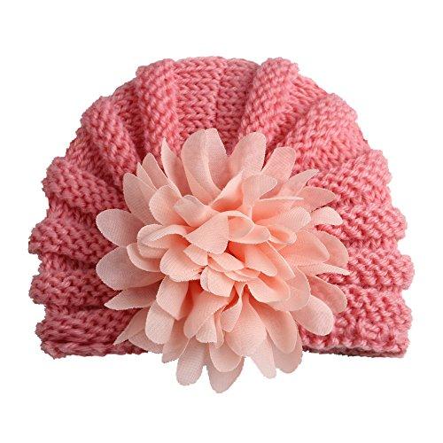 YICANG - Gorro de Lana para bebé con diseño de Flores H...