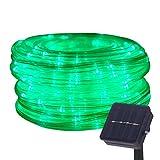 DULEE Solar LED Lichtschlauch Lichterkette Außen 5M 50 LED Wasserdicht Garten Dekorative...