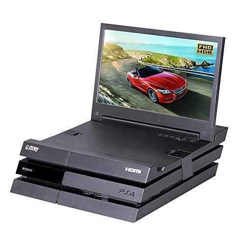 Moniteur de jeu G-STORY 11,6 pouces HDR FHD 1080P Portable Eye-Care pour Original PS4 (non inclus) avec FreeSync, câble HDMI, haut-parleur stéréo multimédia intégré