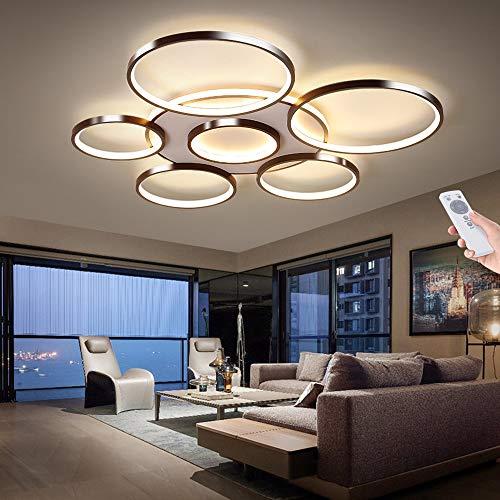 Modern Deckenleuchte Dimmbar Deckenlampe Wohnzimmerlampe Mit Fernbedienung LED 106W Decke Schlafzimmerlampe Acryl Lampenschirm Aluminium Design Lampe Esszimmerlampe Bürolampe Küchelampe,7 heads