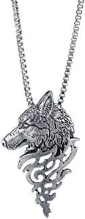 Alloy Pendant Necklace Gift Wolf Head Shape Fashion Jewelry Besooly