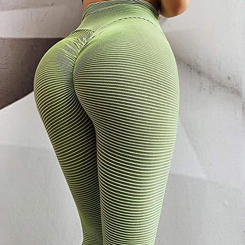 Yogabroek extra zachte legging met zakken voor dames,Dames yoga legging, billen push up sportlegging-Green_S,Blouse met V-hals