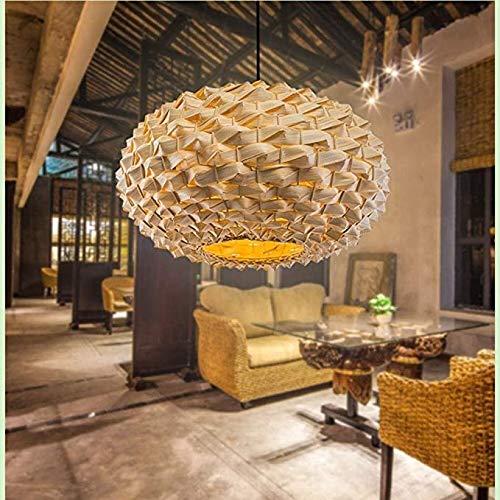 Lámpara de bambú LED, robusta y duradera, adecuada para comedor, sala de estar y tamaño de dormitorio 40 * 22 cm