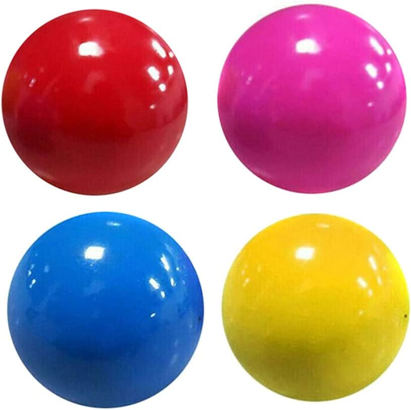 WNAO 1//3//5//10pcs Stress Reliefer Fluorescent Sticky Target Balls,Toys for Exercise and Stress Relief