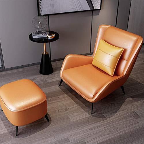 Apopp Home Küche Schreibtisch Stühle Barhocker Hocker Italienisch Minimalist Gelegenheits faules Sofa, Stuhl, Nordic Moderne Minimalist Tiger Stuhl-Wohnzimmer-Einzel mit Fuß Ledersessel (Color : B)