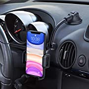 #LightningDeal Car Phone Holder Mount, Long Arm Dashboard Windshield Phone Holder, Strong Sticky Gel Suction Cup, Anti-Shake Stabilizer Compatible iPhone 12 11 pro/11 pro max/XS/XR/X/8/7,Galaxy and More