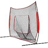 ChengBeautiful Übungsnetz 7x7 Fuß Faltbares Baseball-Übungsnetz Tragbares, leichtes Softball-Netz, das den Ball wie EIN Trampolin abprallt Für Alle Schwierigkeitsgrade (Color : Red, Size : 213x213cm)