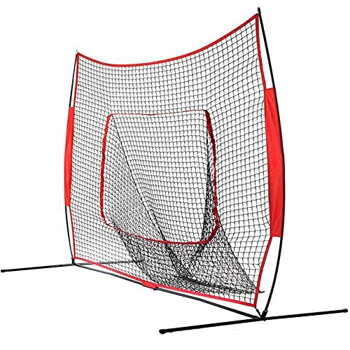 HXiaDyG Baseball trainingsnet, 7 x 7 voeten, opvouwbaar, praktisch, draagbaar, licht, softball wordt de bal als een trampoline, net trainingsnet, draagbaar