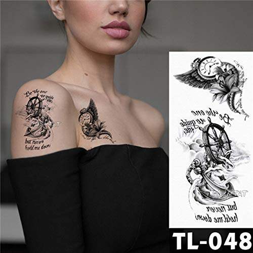 tzxdbh 3pcs-Sketch Flower Rose patrón de Mariposa Pegatinas de ...