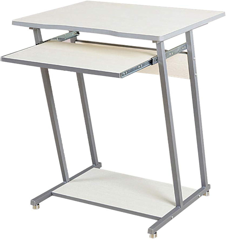 LVZAIXI Folding Computer Desk Notebook Desktop Computer Multi-Function Folding Table (color   White)
