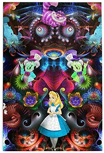 yeeatz 1000 Piece Jigsaw Puzzles,Alice In Wonderland Design Jigsaw Puzzle Toy for Educational Gift Home Decor,Large 29.5×19.7inch