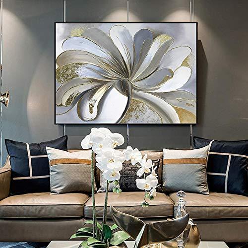 abstracte bloem olieverfschilderij canvas kunst geschenk decoratie woonkamer muurkunst frameloos schilderwerk