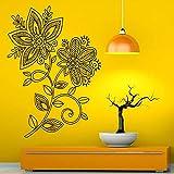Lotus Mandala Painting Wall Decal Flower Vinyl Art Wall Sticker Home Decoration...