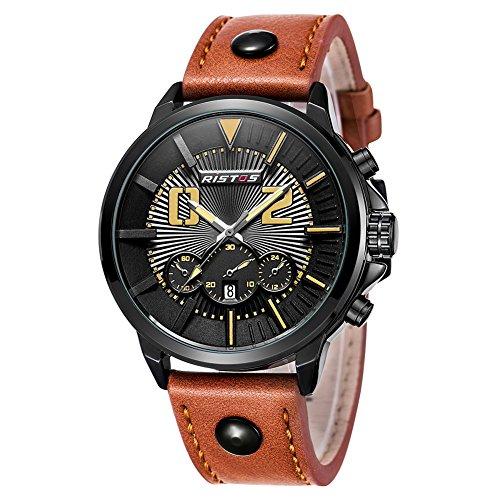 iWatch Hombre Reloj de pulsera 30m Resistente al agua fecha LED de...