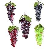 Realistico Fotografia artificiale Uva Grapes artificiale simulato realistica frutta Decor Prop per la casa festa da cucina 10PCS 36 Grapes