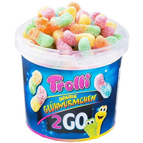 Trolli Saure Glühwürmchen 2Go Travelbox 150g Mini-Fruchtgummis