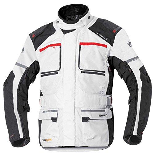 Held Carese 2 Damen Motorradjacke GTX, Farbe grau-rot, Größe XL