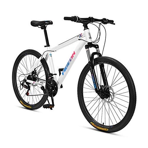 Bicicleta, Bicicleta Todoterreno de 24 Velocidades, Bicicleta de Montaña con AmortiguacióN, Para Adultos Y Adolescentes, Cuadro de Acero con Alto Contenido de Carbono, NeumáTicos de 26 Pulgadas