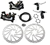 BlueSunshine BB8 Front and Back Disk Brake Kit - 160mm for 80cc Gas Motorized Bicycle (BB8 Disk Brake Kit - G3-3)