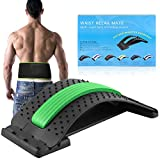 {2 in 1}Multi-Level Lumbar Support Stretcher Spinal,Magnetic Back Massager,Back Support Brace,Back Stretching Device for Bed & Chair & Car Lower and Upper Muscle Pain Relief,for Men & Women.