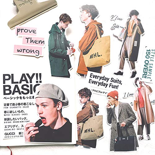 Fox Family Hand Account Zout Systeem Japanse Heren Kleding Tijdschrift Hand Account Album Decoratie Sticker Materiaal Pakket