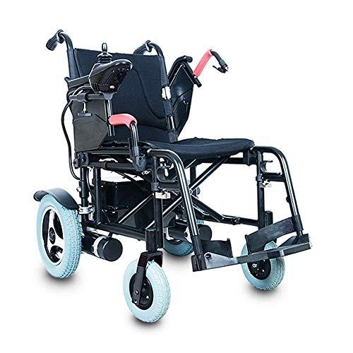 WXDP Silla de ruedas autopropulsada,Scooter eléctrico portátil plegable para personas mayores con discapacidad de rehabilitación de vehículos eléctricos plegable ayuda,Negro