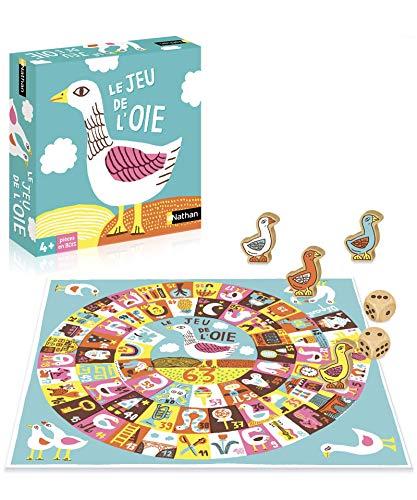 Nathan - Jeu de l'oie - Un jeu de plateau classique pour la famille et les enfants de 4 à 99 ans