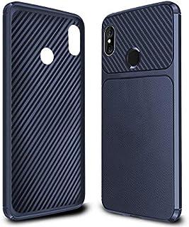MTkxsy Xiaomi Redmi Note 6 Pro用超薄型カーボンファイバー携帯電話ケースファッションバックカバー携帯電話ソフトケース (Color : ブルー)