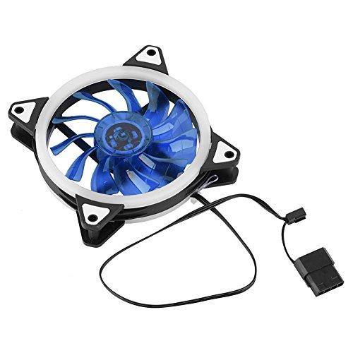 Acouto Ventilador de refrigeración de 3 Pines, 12cm 120 mm Ultra silencioso PC de la CPU de 3 Pines de 4 Pines Enfriador del...