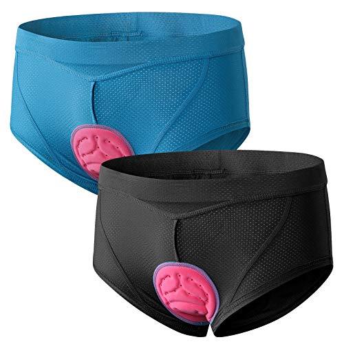 FEIXIANG Ropa interior de ciclismo para mujer,  pantalones cortos de bicicleta 4D de gel acolchado para ciclo,  transpirables,  de secado rápido