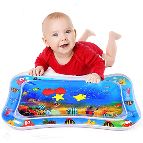 Inflatable Water Play Mat for Infants & Toddlers Fun Tummy Time Play Activity Baby Playmats Leakproof BPA Free Water Mat Toy for Baby's Stimulation Growth
