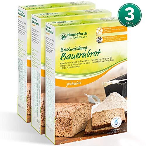 Glutenfreie Backmischung Bauernbrot 3*400g