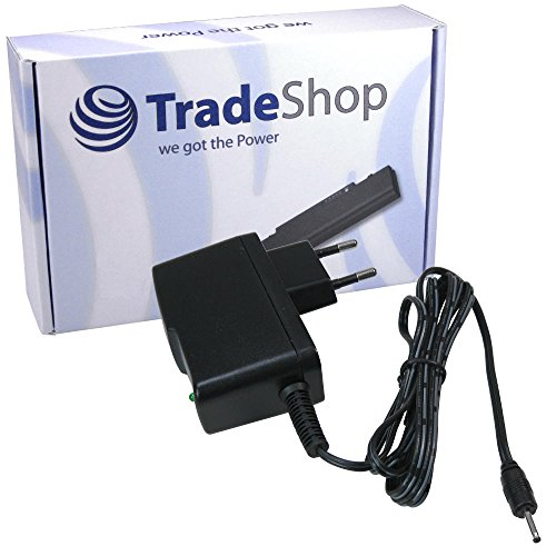 Trade-Shop Universal Netzteil Ladegerät 5V 2A 2,5mm Stecker für i.onik Move TP7-1200DC, TP7-1200BT, TP8-1500DC Ingo Monster High 7 Tablet Intenso Tab 804, 814S, 824, 1024 iPPo Q101 Android Tablet