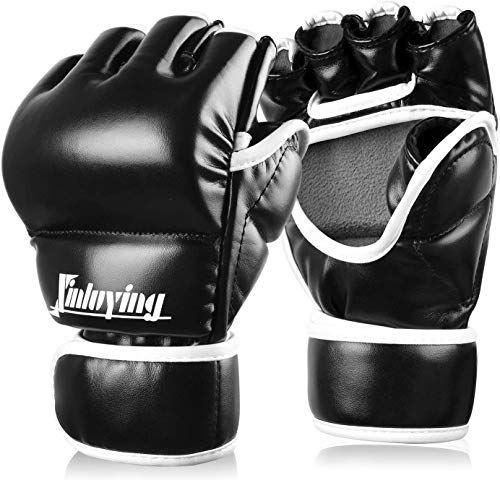Xinluying Boxhandschuhe MMA Handschuhe Profi Boxsack Sandsack Kampfsport Training Leder 30mm Polsterung Herren Damen