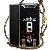 DeinDesign Carry Case kompatibel mit Samsung Galaxy A80 Handykette Handyhülle zum Umhängen Martinez #5 FC Bayern München Trikot