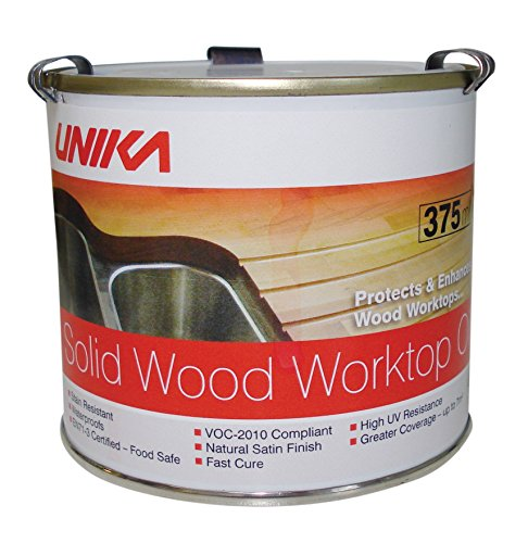 Unika SWWOIL375ML-AZ Solid Wood Worktop Oil, Multi-colour, 375ML