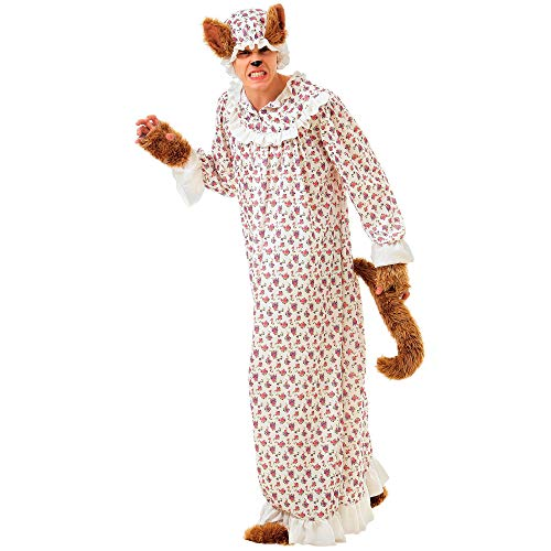 Big Bad Wolf Funny Halloween Costume, Unisex - Adult Fairy Tale Dressup (Large) White