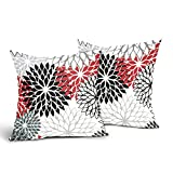 Red and Black Throw Pillow Covers Set of 2 Red Black...