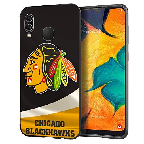 Samsung Galaxy A20/A30 Case,Slimr Soft TPU Rugged Shockproof Protective Hockey Game Phone Case for Samsung Galaxy A30/A20 Black,AP05-025