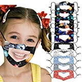 [US Stock] Kids Face Mask Reusable Washable Breathable With Clear Window Visible Expression for The Deaf and Hard of Hearing by MASZONE