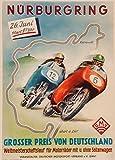 """Vintage Motorrad-Poster """"Großer Preis von"""