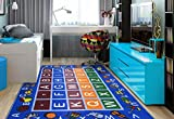 Ottomanson jenny collection educational rugs, JNA370036-3X5, Blue