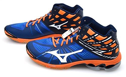 Mizuno Chaussures Wave Lightning Z Montantes bleu/Blanc/orange