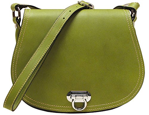"Italian Polished Calfskin Leather Inside Zip Pocket inside Smartphone Pocket 10"" x 3"" x 8"" Cross Body Adjustable Strap"
