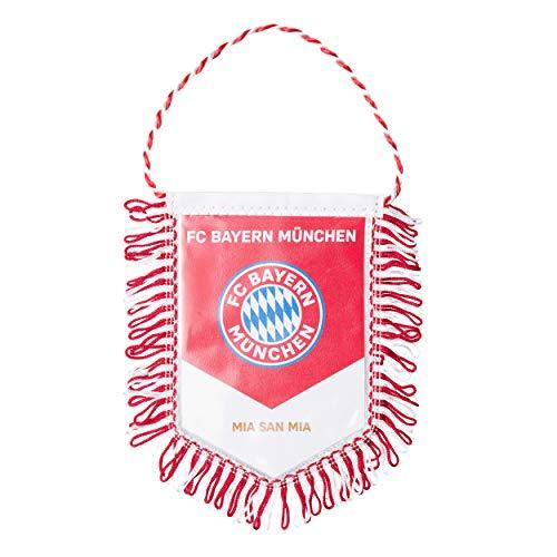 FC Bayern München Fanion/bannière de voiture FCB avec autocollant Forever München Ø 9,5 cm