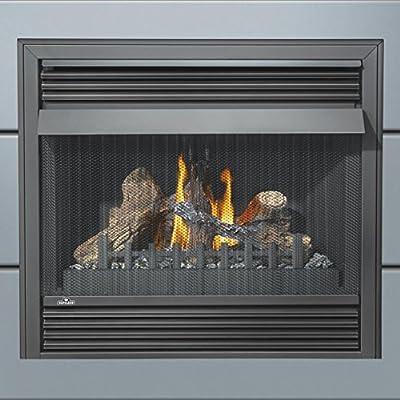 """Napoleon Grandville VF Series GVF36-2N 37"""" Vent Free Natural Gas Fireplace with Millivolt Ignition Up to 30 000 BTU's Pan Style Burner PHAZER Log Set Oxygen Depletion Sensor and 100% SAF"""