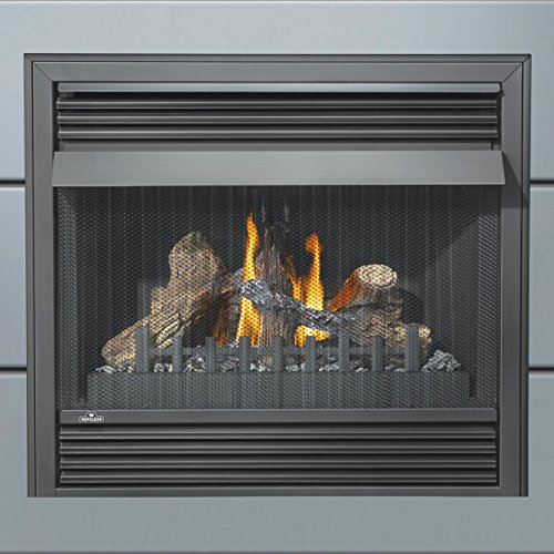 "Napoleon Grandville VF Series GVF36-2N 37"" Vent Free Natural Gas Fireplace with Millivolt Ignition Up to 30 000 BTU's Pan Style Burner PHAZER Log Set Oxygen Depletion Sensor and 100% SAF"