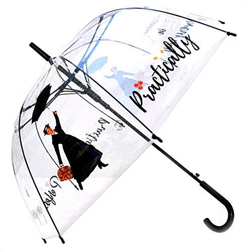 Mary Poppins - Ombrello dritto trasparente