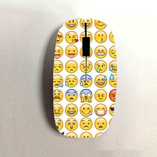 Have Emoji 1 Womon Abs Apparent Use On USB Wireless Mouse Choose Design 6-1